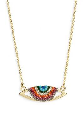 Women's Shashi Elena Rainbow Necklace $103 thestylecure.com