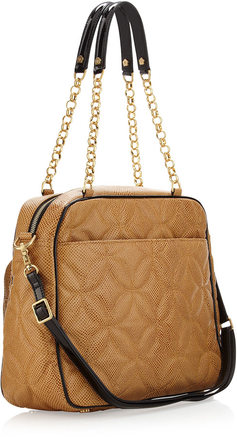 Eric Javits Dance Chain-Strap Quilted Tote Bag, Camel