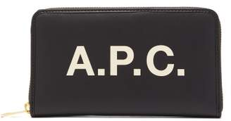 A.P.C. Morgane Logo Continental Wallet - Womens - Black