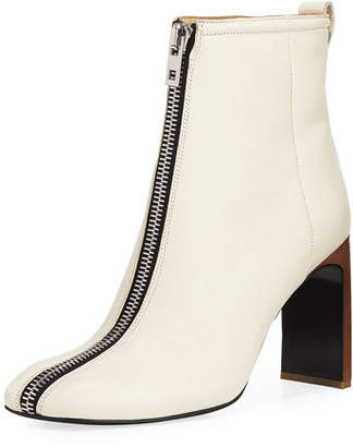 Rag & Bone Ellis Zip-Front Leather Ankle Boot
