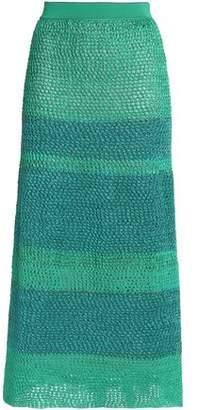 Missoni Metallic Crochet-Knit Midi Skirt