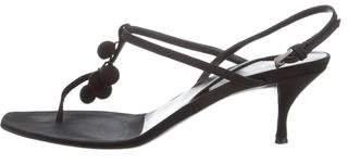 Prada Canvas T-Strap Sandal