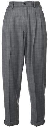R 13 cropped plaid trousers