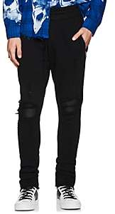 Amiri Men's MX1 Leather-Inset Cotton Sweatpants - Black