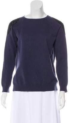 Brunello Cucinelli Crystal-Embellished Cashmere Sweater
