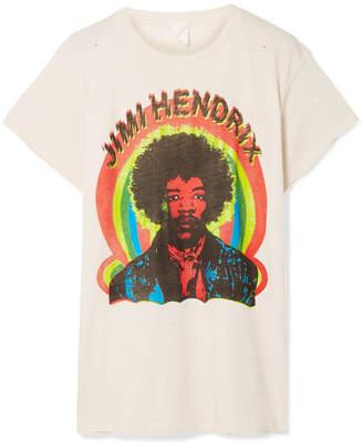 MadeWorn - Hendrix Printed Cotton-jersey T-shirt - Cream