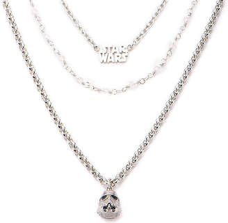 Star Wars FINE JEWELRY Stainless Steel Stormtrooper 3-Tiered Pendant Necklace