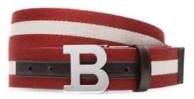 Bally B Buckle Woven Belt