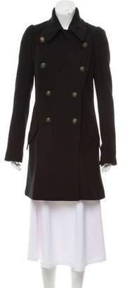BCBGMAXAZRIA Double-Breasted Knee-Length Coat