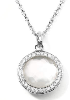 Ippolita Stella Lollipop Pendant Necklace in Mother-of-Pearl Doublet With Diamonds