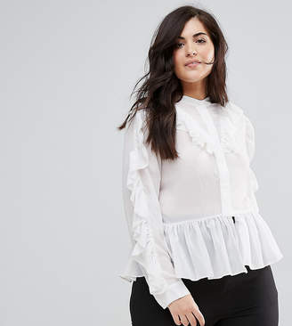 Truly You Ruffle Detail Blouse
