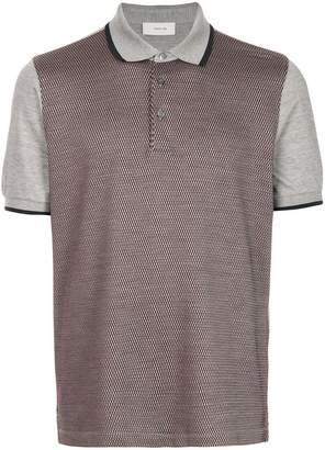 Cerruti contrast sleeve patterned polo shirt