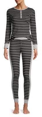 Calvin Klein Underwear Two-Piece Striped Pajama Set
