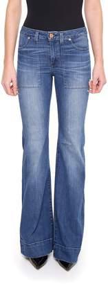 MICHAEL Michael Kors Patch Flare Jeans