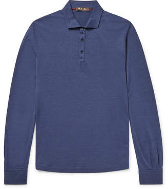 Loro Piana Silk And Cotton-Blend Polo Shirt