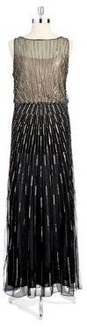 J Kara Bead and Sequin Sleeveless Gown