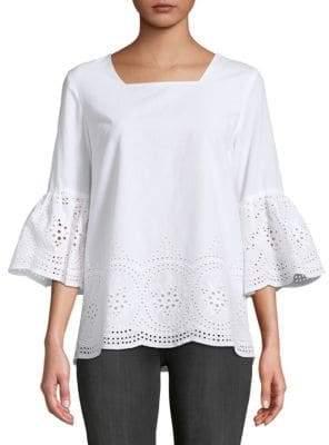 Calvin Klein Bell-Sleeve Cotton Top