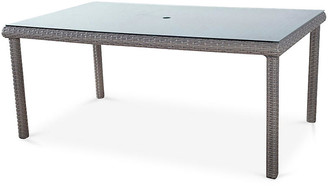 Tropez St. Wicker Dining Table - Gray - South Sea Rattan
