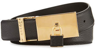 Buscemi 100mm Padlock-Buckle Leather Belt