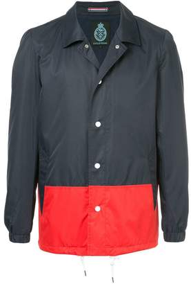 GUILD PRIME colourblock shirt jacket