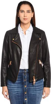 Marina Rinaldi Leather Biker Jacket