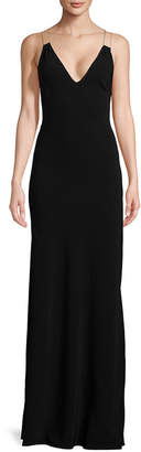 Ramy Brook Chantal Plunging-Neck Gown