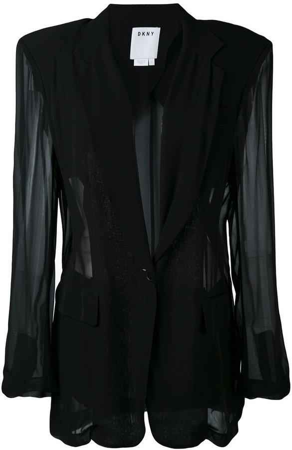 DKNYDKNY sheer panelled blazer