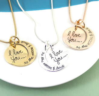 Lucy Loves Neko I Love You To The Moon And Back Message Necklace