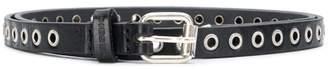 Diesel buckle embellished narrow belt