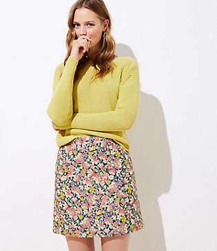 LOFT Floral Shift Skirt