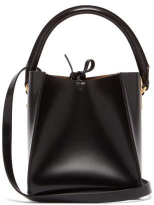 Sophie Hulme Nano Albion Cube Leather Bucket Bag - Womens - Black