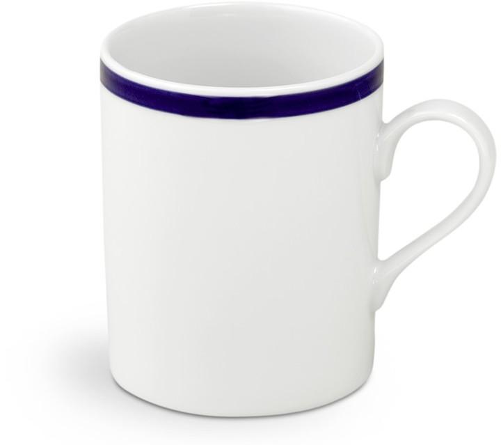 Brasserie Blue-Banded Porcelain Mugs