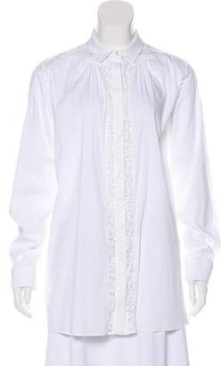 No.21 No. 21 Lace-Trimmed Button-Up Top
