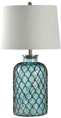 Beachcrest Home Manderly Nautical Net 29? Table Lamp