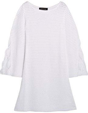 Vanessa Seward Dea Crocheted Cotton Mini Dress