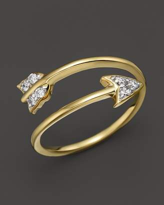 KC Designs Diamond Arrow Ring in 14K yellow Gold, .09 ct. t.w.