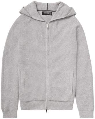 Banana Republic Todd & Duncan Waffle-Knit Full-Zip Hoodie