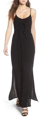 WAYF Tie Front Maxi Dress