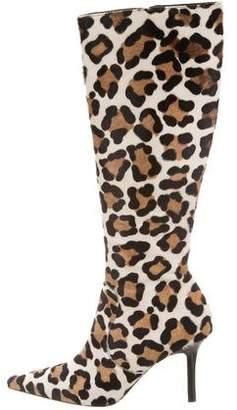 Isaac Mizrahi Animal Print Knee-High Boots