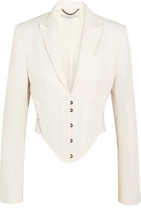Stella McCartney - Abigail Cropped Cutout Cady Jacket - Off-white $1,925 thestylecure.com