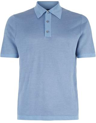 Dunhill Knitted Herringbone Polo Shirt