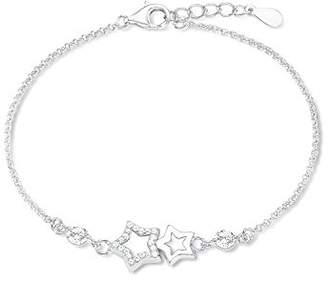 Amor Women's Bracelet Stars 925 Silver Rhodium-Plated Zirconia White 19 cm – 539234