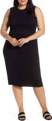Bobeau Lyla Twist Back Midi Dress
