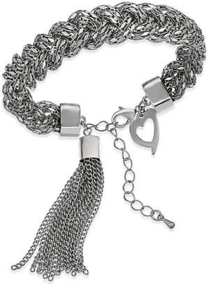 Thalia Sodi Silver-Tone Rope and Tassel Link Bracelet, Created for Macy's