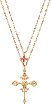joolz by Martha Calvo Roman Cross Set Necklace