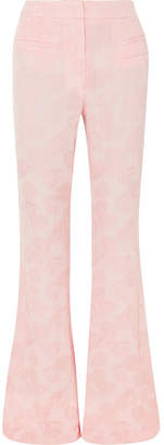 REJINA PYO - Ashley Jacquard Flared Pants - Pastel pink