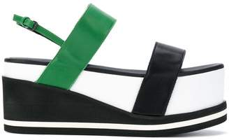 A.F.Vandevorst colour block flatform sandals