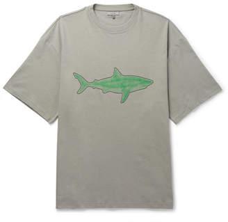 Lanvin Oversized Flocked Cotton-Jersey T-Shirt