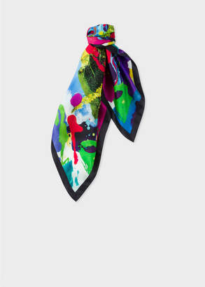 Paul Smith Women's 'Painted Garden' Print Silk Square Scarf