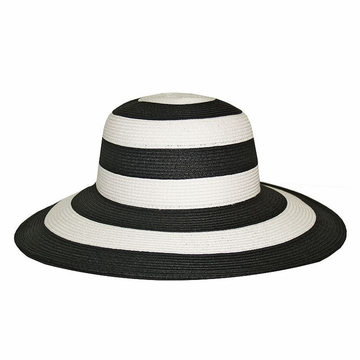 Croft & barrow® striped floppy straw hat